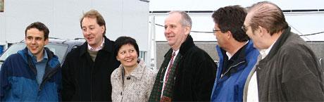 Røkke besøkte Vardø 5.april i år, og møtte blant annet fylkesordfører Helga Pedersen.
