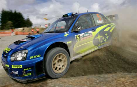 Petter Solberg, rally new zealand 2005, foto: AFP PHOTO/William WEST ,