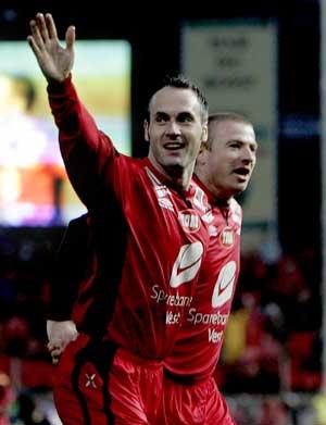 Robbie Winters og Raymond Kvisvik strålte i kampen mot Molde. (Foto: Tor Richardsen / SCANPIX)