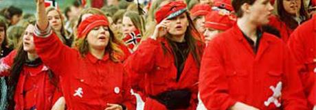 Russepresidenten i Sandefjord er stortingskandidat for Kristelig Folkeparti, og liker ikke knuteregelen som oppfordrer til sex uten kondom (Illustrasjonsfoto, NRK).