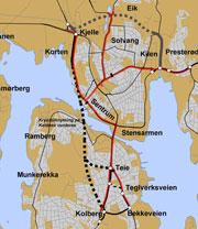 Fjelltunnel fra Kolberg eller Teie veidele. Skisse: Statens vegvesen