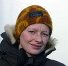 NRK-reporter Trine Hamran var med på sel-toktet. Foto: NRK