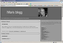 Søker du på web vil du finne mange blogger. Her er den første vi fant etter et søk på en søkemotor.