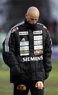 En svært skuffet Ståle Solbakken etter 1-0 tapet for Tromsø. (Foto: Scanpix)