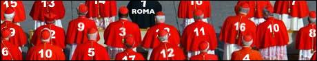 Med 117 kardinaler totalt, må 106 av dem finne seg i å starte på innbytterbenken i søndagens kamp.