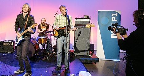 Øystein Greni og BigBang spilte live for nrk.no og Kveldsåpent i NRK P1 mandag 18. april. Foto: Arne Kristian Gansmo, NRK.