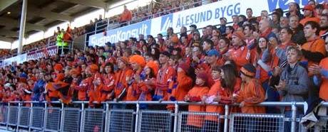 AaFK-supporterne oppfordres til å heie på Molde i kveld. (Foto: Øyvind Johan Heggstad)