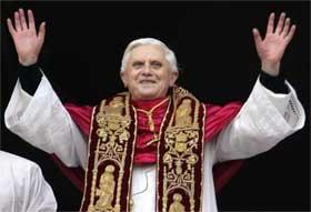 NØDLANDING: Liberale krefter i den katolske kirken er ikke overstadige av lykke etter valget av Joseph Ratzinger. (Foto: Scanpix)