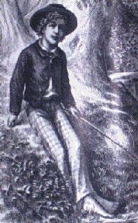 Illustrasjon fra bøkene om Tom Sawyer.