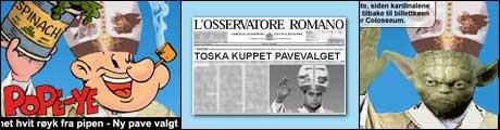 Klikk på lenken under for å se de beste pavebildene!
