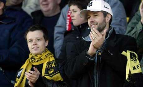 Moss fotballklubb har høy kjendisfaktor på tribunene. ( Arkivfoto: SCANPIX )
