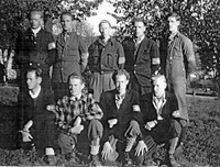 Et knippe mannfolk fra hjemmefronten, 2. verdenskrig.