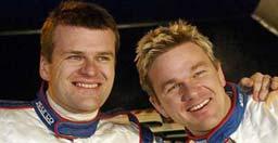 Cato Menkerud og Henning Solberg. Foto: Scanpix