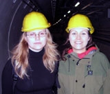 Unni nede i tunnelen. Foto: NRK