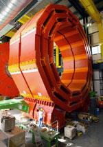 Her er en av detektorene. Foto: CERN