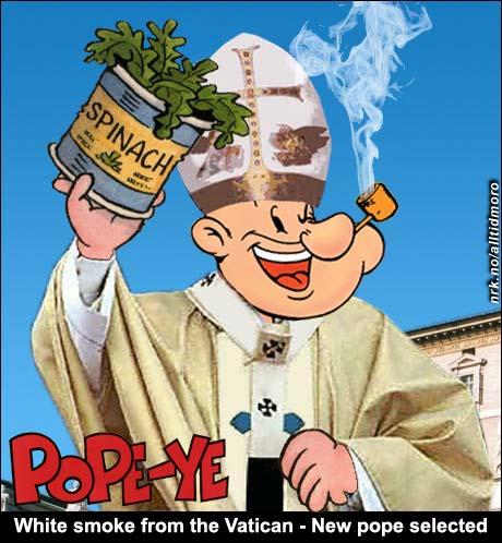 Popeye The Pope (Made by Helge Skeie)