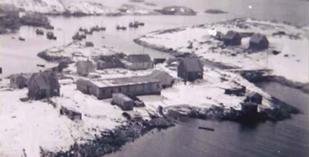 De fire første Hamarhusa stod innflyttingsklare i oktober 1946.