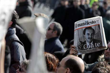 Drapet har skapt sinne i Italia og et mer anstrengt forhold mellom Italia og USA. (Foto: AFP/Scanpix)