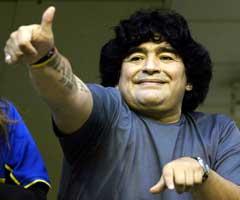 33 kilo lettere, men fortsatt er det mer Diego Maradona enn i glansdagene. (Foto: Reuters/Scanpix)