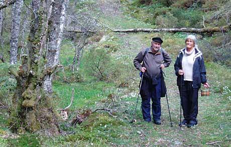 Leif og Kjellaug Vatle tek oss med i Ole Bull sine fotefar. Foto: Sunva Coll Mossige/ NRK.