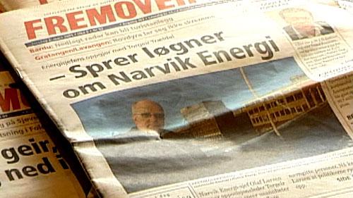 Saken har allerede versert på forsiden til Narvik-avisa Fremover. Foto: NRK.