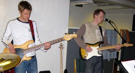 Alt må sitte før debutkonserten til Ida Brodal band. (Alle foto: Knut Erik Solhaug.)