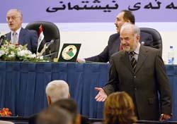 Statsminister Jaafari fikk godkjent resten av regjeringen i nasjonalforsamlingen i dag. (Foto: F.Kheiber, AFP)