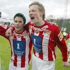 To ganger kunne Tromsø og Ole Martin Årst (t.h.) juble. Foto: Gorm Kallestad / SCANPIX)