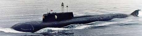 Ubåten «Kursk» i 1999. (Arkivfoto: AP/Scanpix)