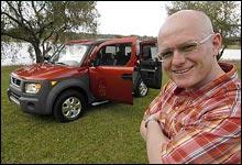 Honda Element er en bil Jan Erik gjerne ville importert mange av om han var bilimportør. (Foto: Theodor Kristensen)