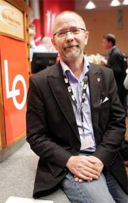 Per Østvold leder opprøret mot pensjonsreformen på LO-kongressen. (Foto: Scanpix)