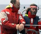 En del av merke-teamet i aksjon ute på åpent hav. Foto: Leif Nøttestad.