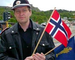 Eyvind Aakerman i Halden brannvesen. Foto:Rainer Prang NRK.
