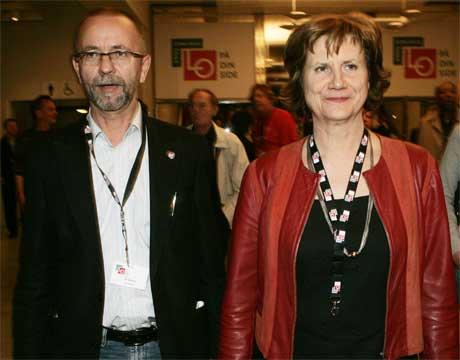 De to hovedmotstanderne i striden om pensjonsreformen, LO-leder Gerd-Liv Valla og Per Østvold. (Scanpix-foto)