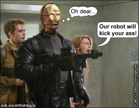Robot-forveksling i Terminator (Innsendt av Thomas Brevik, kortsagt.com)