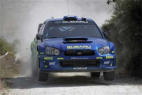 Petter Solberg under første dag av Rally Kypros. (Foto: www.swrt.com)