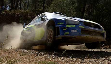 Petter Solberg måtte bryte Rally Kypros etter at mekanikerene fryktet at motoren skulle bli fullstendig ødelagt. Foto: AP - Petros Karadjias/Scanpix)