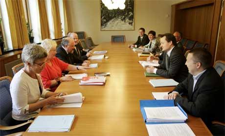 Regjeringspartiene og Ap fortsatte i dag å forhandle om pensjonsreformen. (Foto: Tor Richardsen/Scanpix)