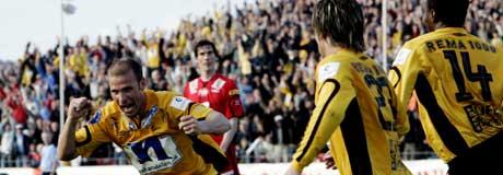 Blir det mer å juble i Kristiansand etter kampen mot Bodø/Glimt ? (Foto: Scanpix)