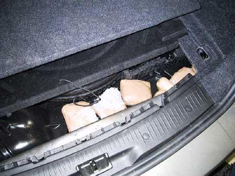 Arkiv: Heroinbeslag på Ørje 20. januar 2006 (Foto: Tollvesenet)