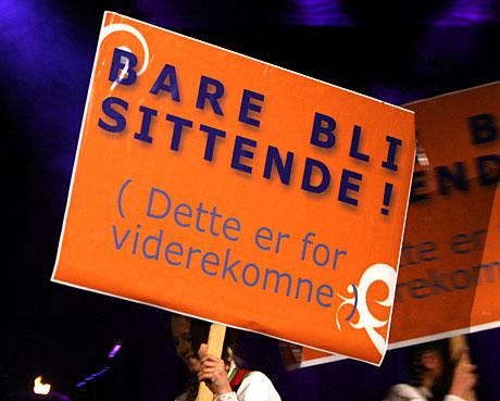 Ingen grunn til å boikotte nye versjoner av Bergens nasjonalsang. Foto: Arne Kristian Gansmo, NRK.