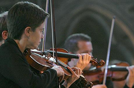 Konsertmester Elise Båtnes var kunstnerisk leder for Trondheimssolistene. Foto: Arne Kristian Gansmo, NRK.