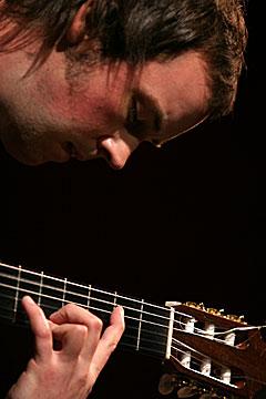 Gitarduoen Frevo imponerte med spansk gitarspill, men nådde ikke opp hos juryen. Foto: Arne Kristian Gansmo, NRK.  Red