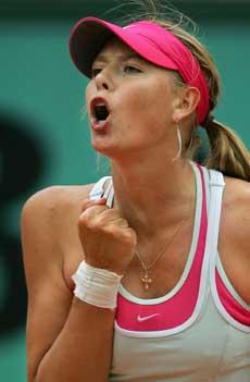 Maria Sjarapova er på god vei mot en ny Grand Slam-finale (Foto: Scanpix)