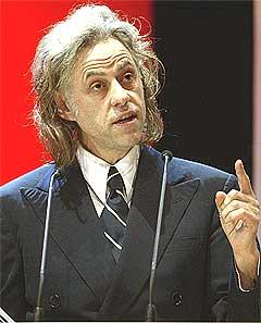 Initiativtager Bob Geldof vil ha et seriøst arrangement. Foto: Scanpix.
