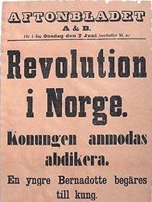 Fete typer: Svenske Aftonbladet ryddet forsiden 7. juni 1905 (Ill.: Nasjonalbiblioteket)