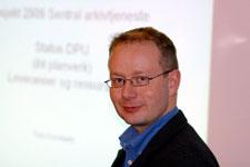 Tom Kornbakk er sjef for Forsvarets arkivadministrasjon. Foto: Rune Tallaksen.