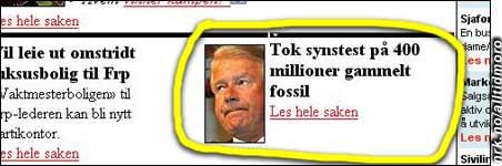 Forskere testet synet på 400 millioner år gammelt fossil, melder VG.no, som også har bilde av begivenheten. (Innsendt av Werner Vesterås)