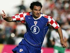 Kroatias Marko Babic jubler etter å ha gitt Kroatia ledelsen 1-0 mot Bulgaria. (Foto: Reuters/Scanpix)