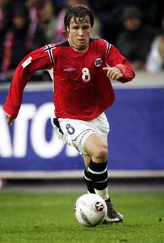 Kristofer Hæstad under kampen mot Italia. (Foto: Tor Richardsen / SCANPIX)